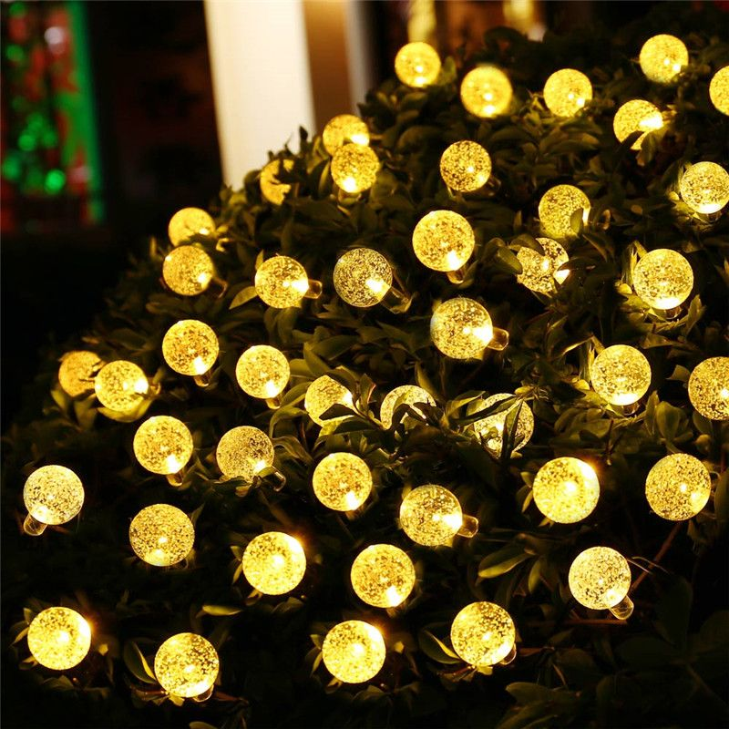 Solar Led String Lights Outdoor New Arrive 8 Modes 197Ft 30 Led Crystal Ball Solar Fairy Lights