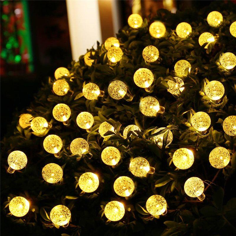 Solar Led String Lights Outdoor New Arrive 8 Modes 197Ft 30 Led Crystal Ball Solar Fairy Lights