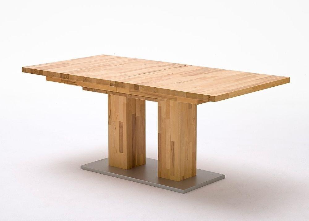 Esstisch massiv Turino Esszimmertisch ausziehbar Holz Kernbuche - wohnzimmertisch höhenverstellbar und ausziehbar