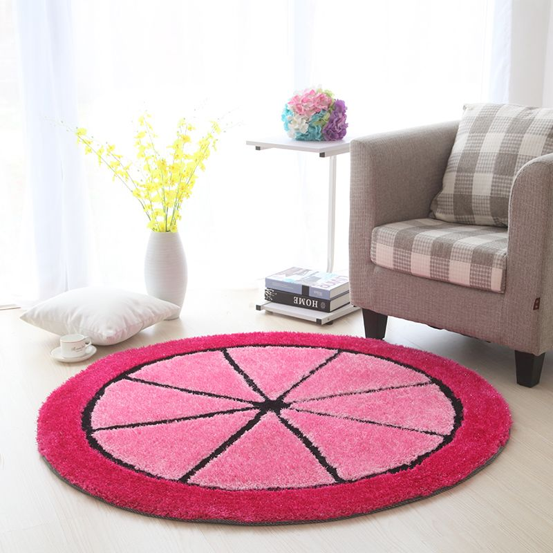 120CM Round Stretch Yarn Carpets For Living Room Home Bedroom Rugs ...