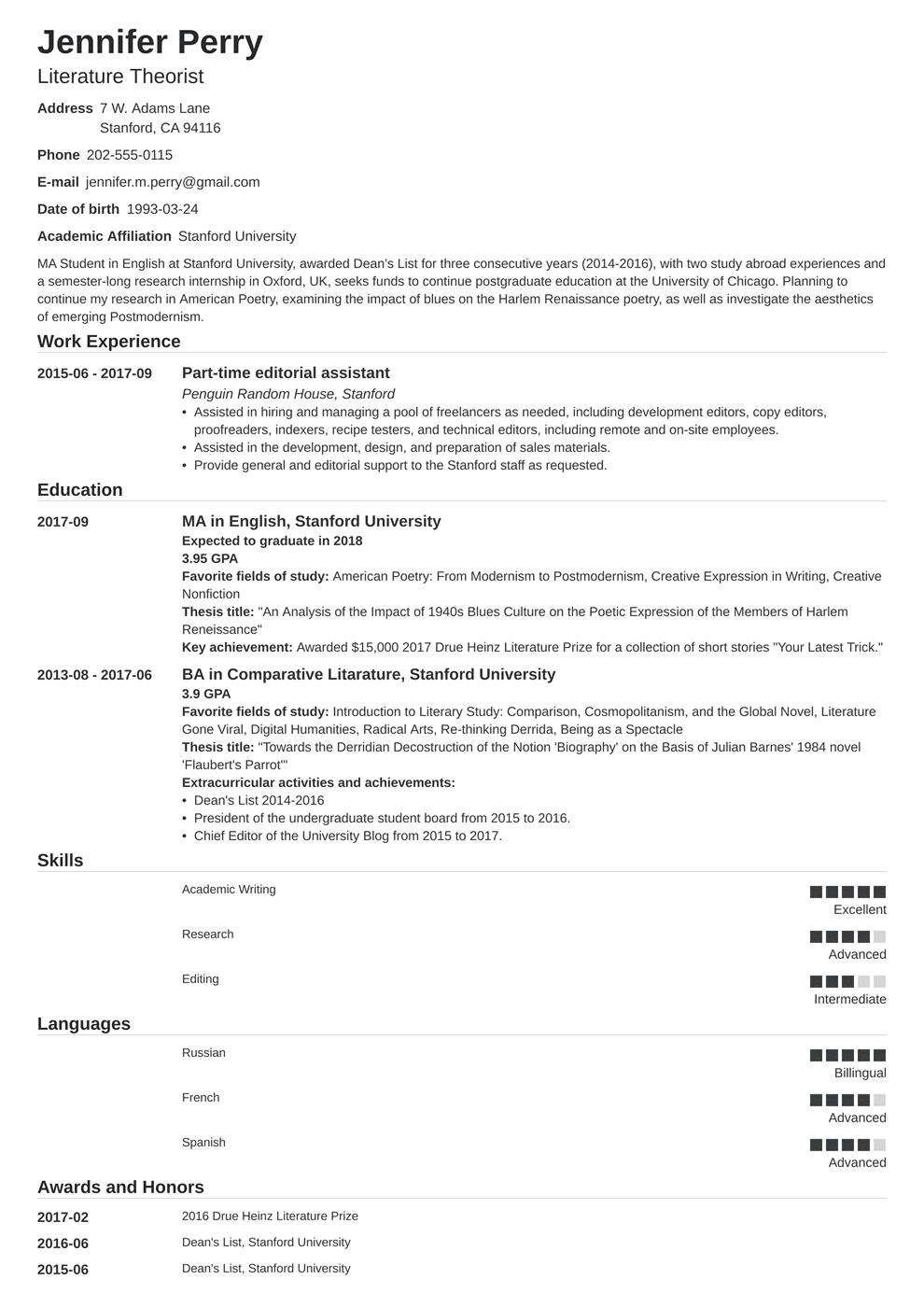 Scholarship Resume Template Nanica Resume Examples Job Resume Examples Resume Template