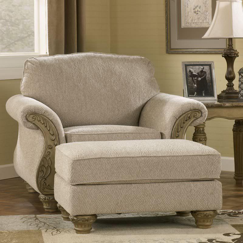 Salinas old world wood trim fabric sofa set living for Furniture 4 less salinas