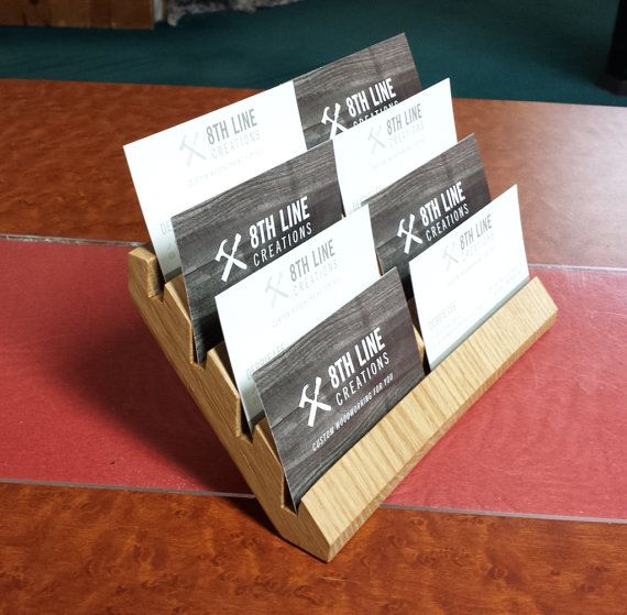 Business card holder gift card holder multiple business card business card holder gift card holder multiple business card holder business card display desk accessory office supplies oak colourmoves