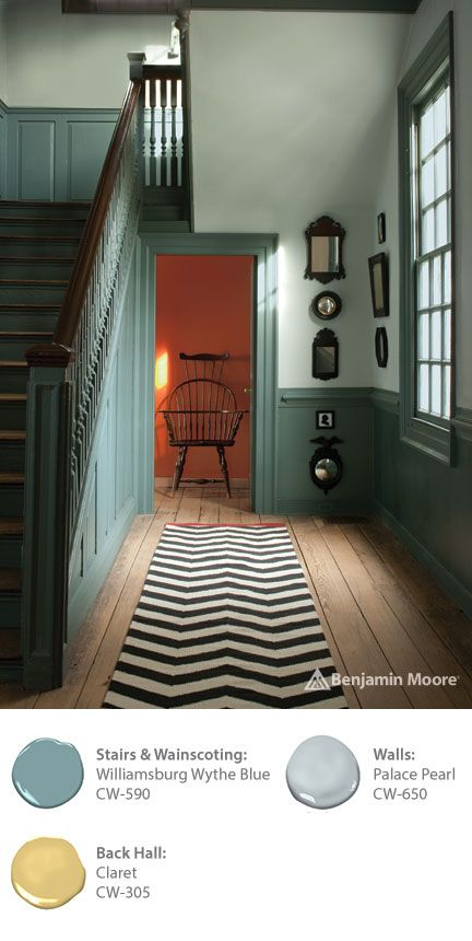 Benjamin Moore S Williamsburg Collection Contains Paint Colors Based On Original Pigments Developed More Than 250 Years Ago