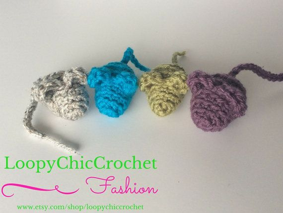 Handmade crocheted Cat Toys stuffed with by LoopyChicCrochet