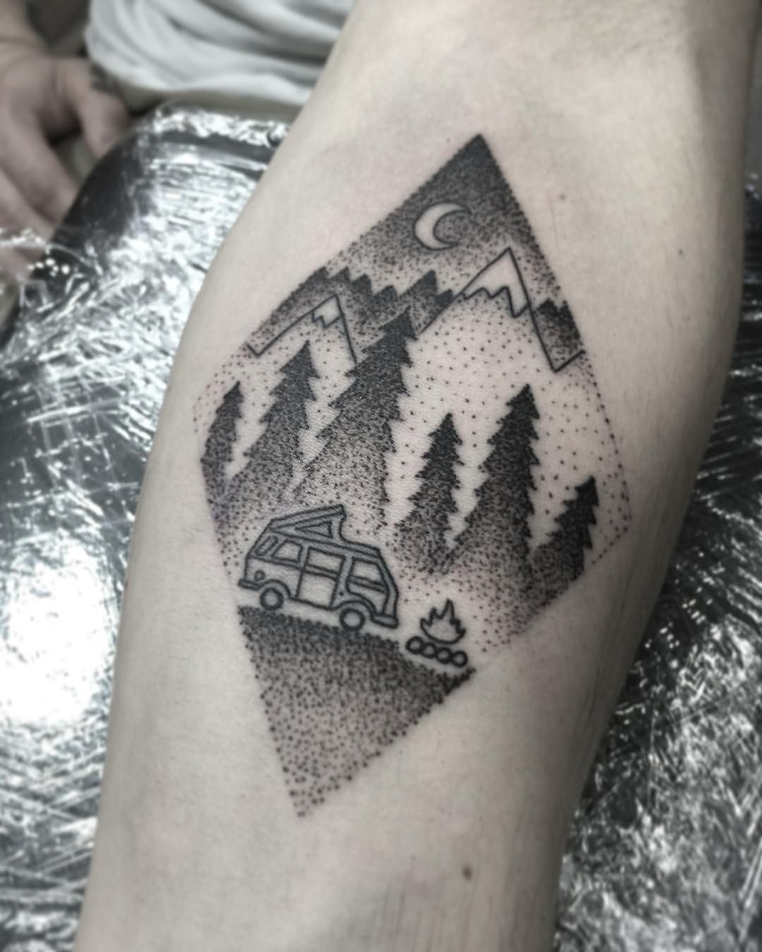 60 Camping Tattoos For Men – Wilderness Design Ideas