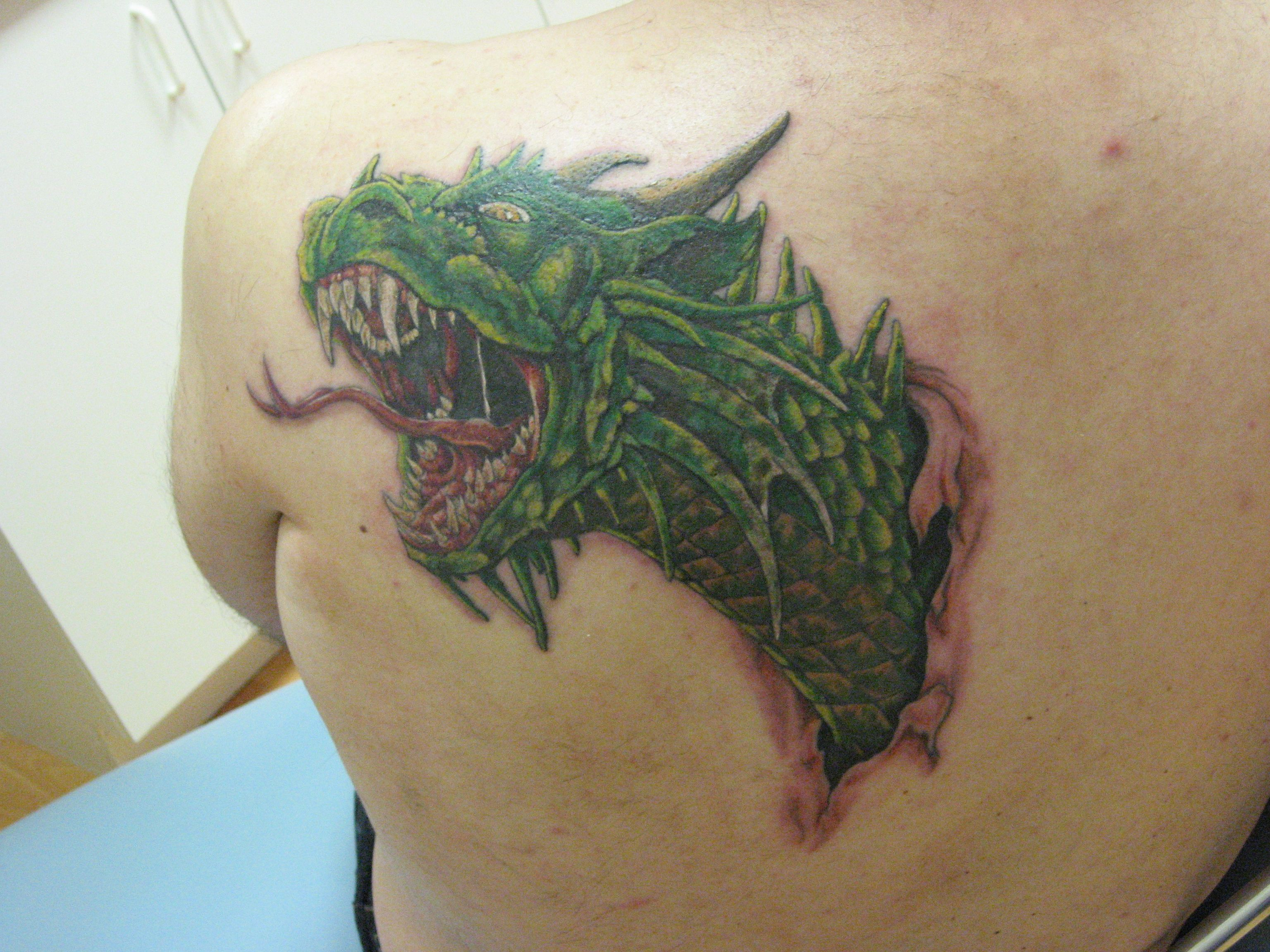 Color Dragon Tattoo   by Jamie Russo at Pushing Inc. Tattoo Emporium