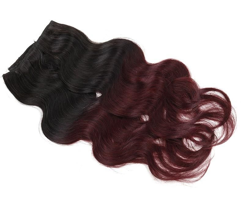 Body Wave Clip In Extensions (#1B/99J)