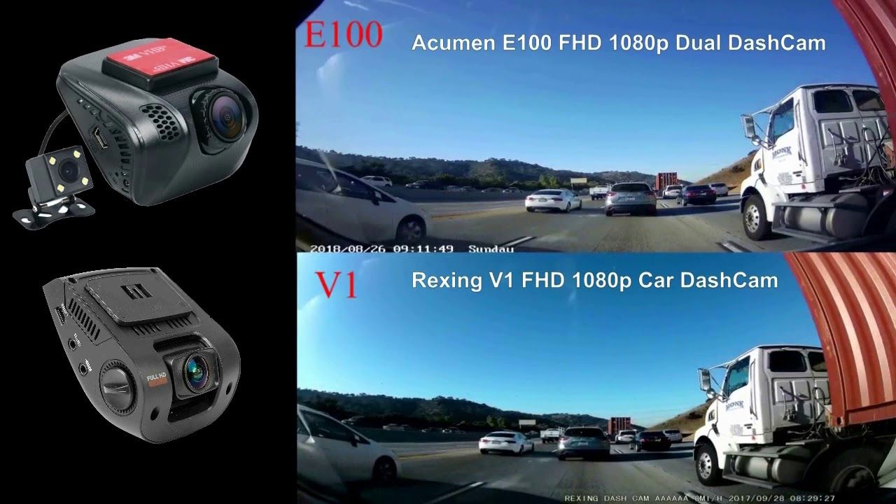 Dashboard Camera Recorder with Sony Exmor Sensor Acumen FHD 1080p Dual Dash Cam
