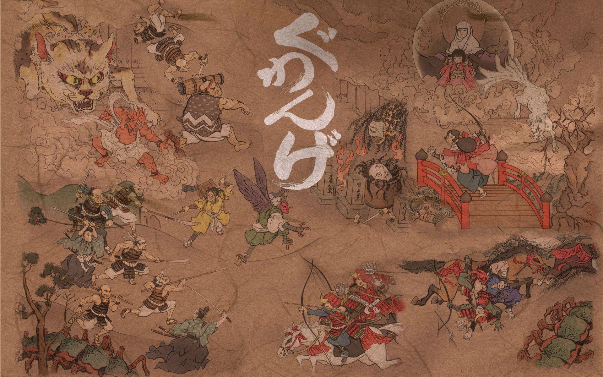1920x1200 Japanese Art Desktop Wallpaper Japanese Art Art Wallpaper Iphone Japanese Artwork