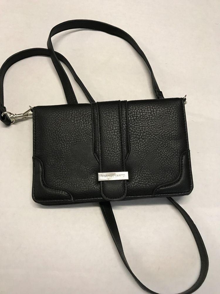Franco Sarto Black Multi Purpose Wallet Crossbody Nwot Francosarto Clutch
