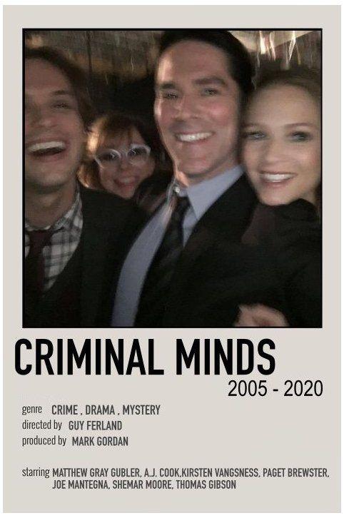 minimalist movie posters criminal minds