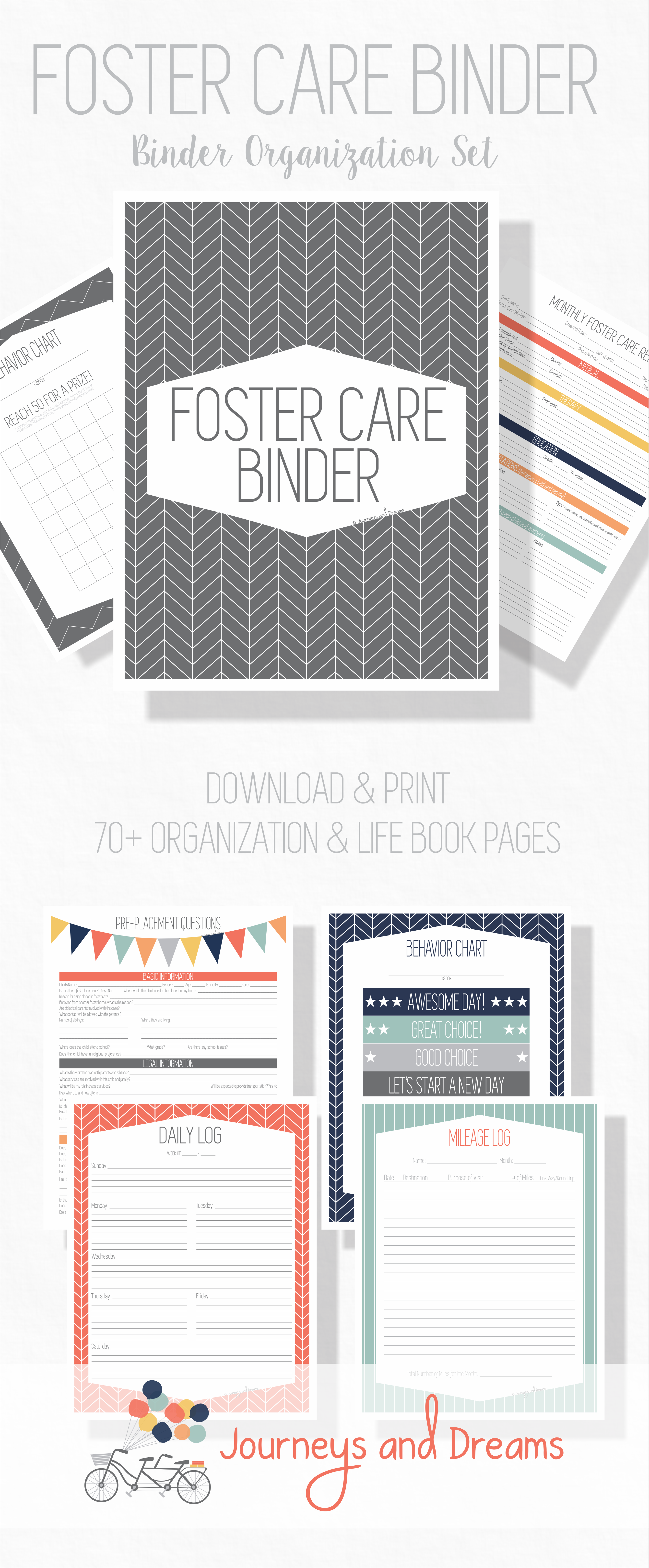 Foster Care Organization Binder Printable
