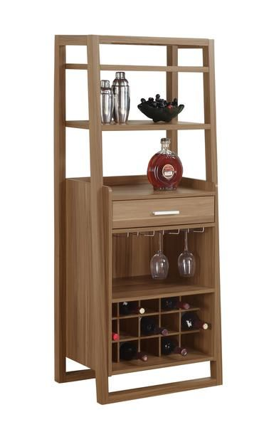 Monarch Specialties Stylish And Contemporary Home Bar 60 H Walnut Ladder Style