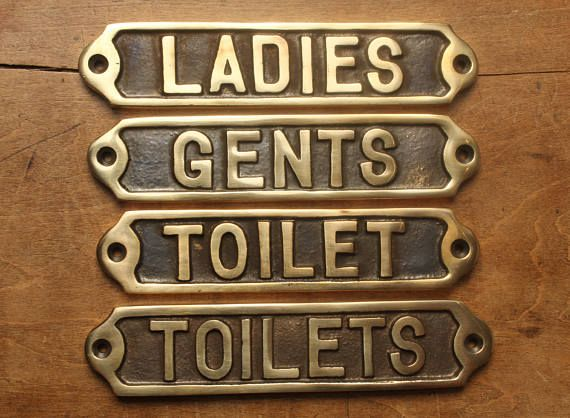 BRONZE TOILETS//LADIES//GENTS TOILET SIGNS OLD PUB DOOR TOILET SIGNS QUALITY MADE