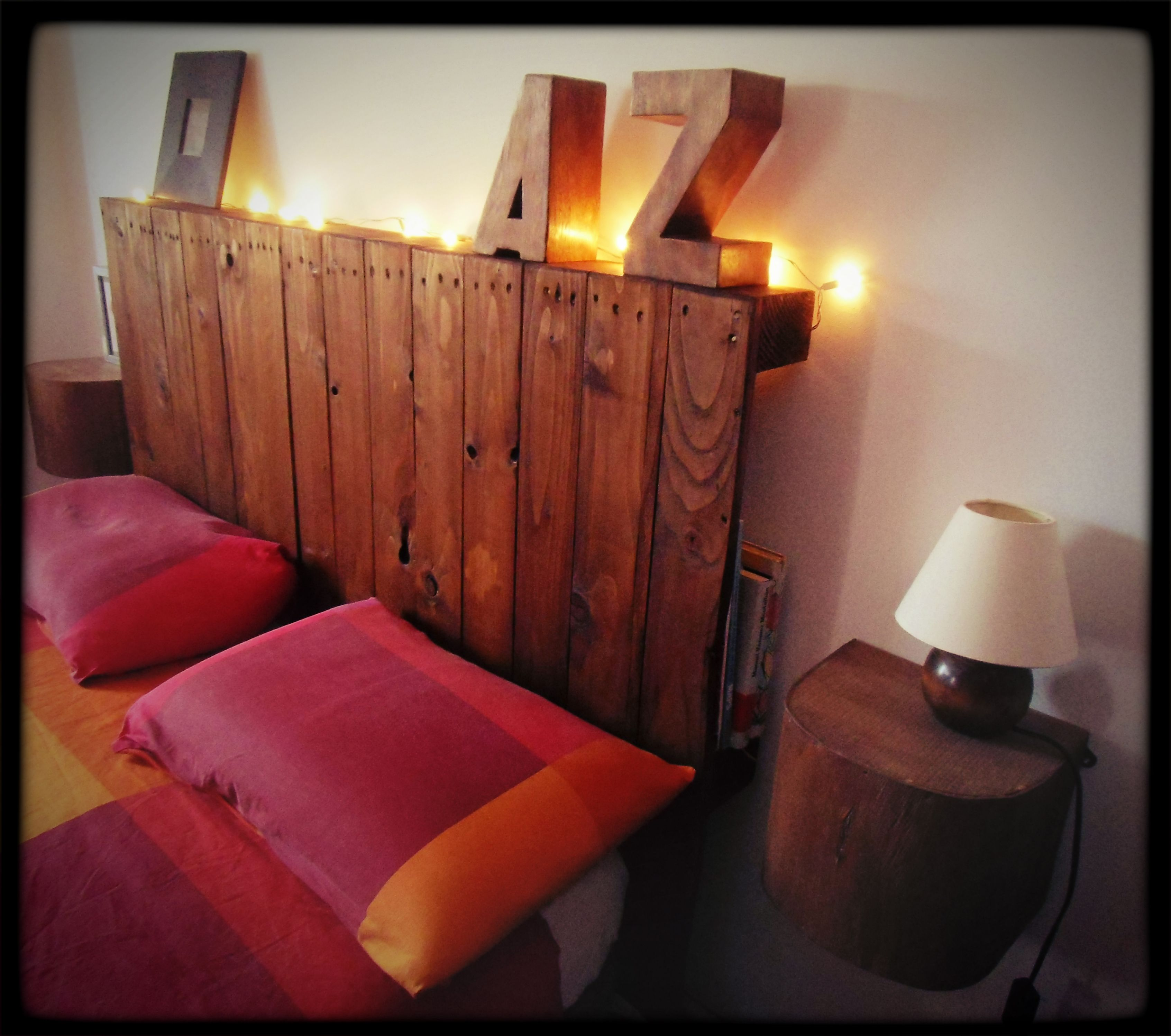 Cabecero de cama realizado con pallet   muebles pallets   Pinterest ...