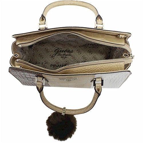 GUESS Rhoda Crocodile-Embossed Satchel Nut Multicolor Handbag Bag NEW WITH  TAG  108.0 9975d7c9d0169
