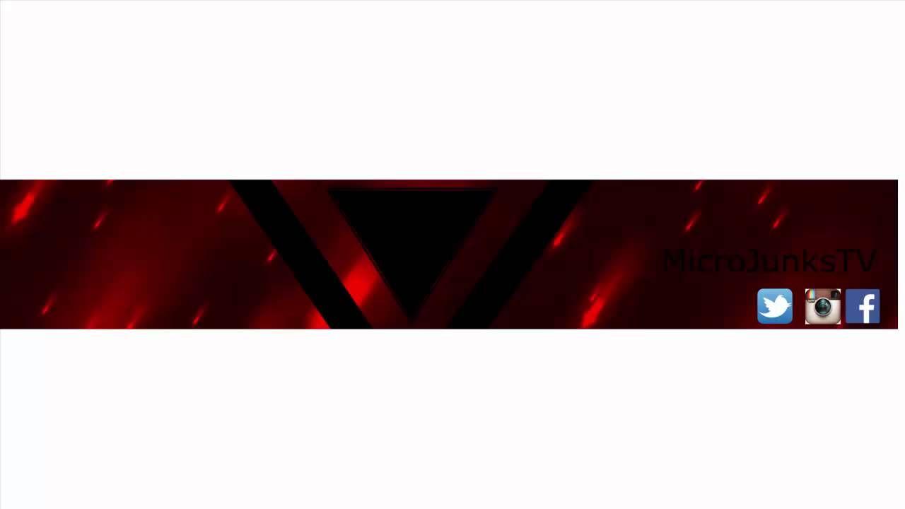 Red Youtube Banner Em 2020 Banner De Youtube Cantores Imagens