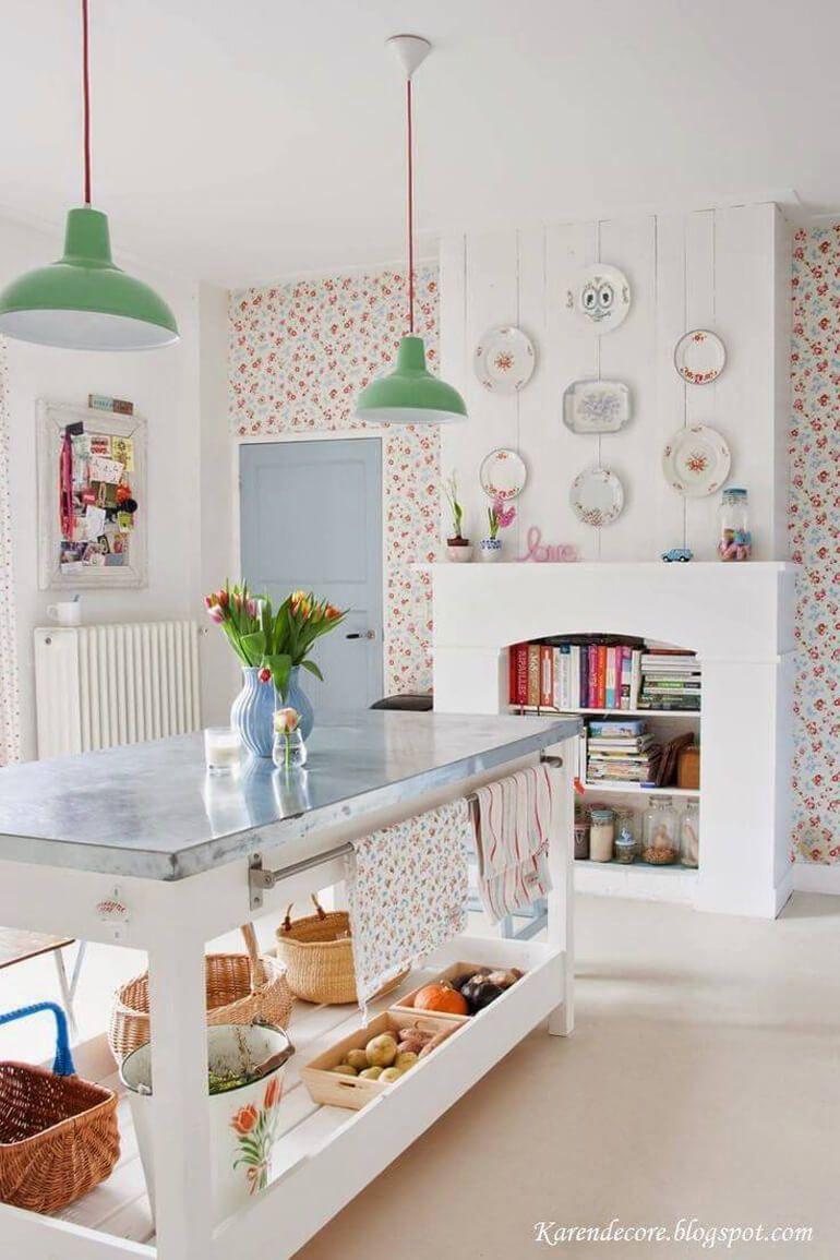 Resultado de imagen de cocinas vintage piso peque o en la cuidad pinterest - Casas decoradas estilo vintage ...