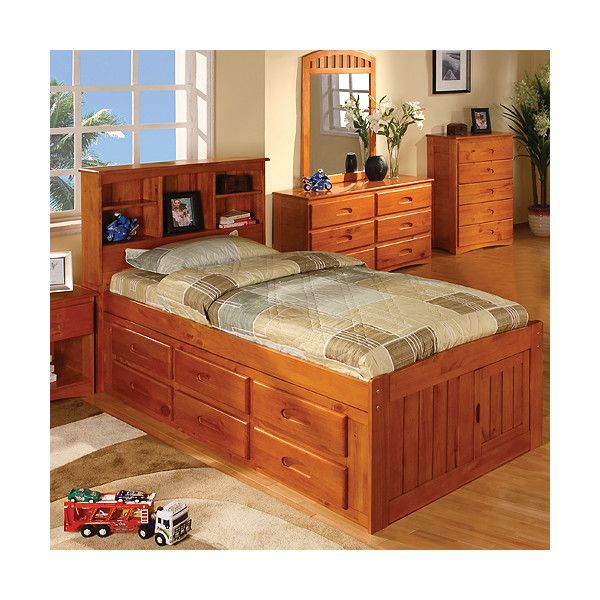 Discovery World Furniture Weston Captain S Bookcase Bed With Storage