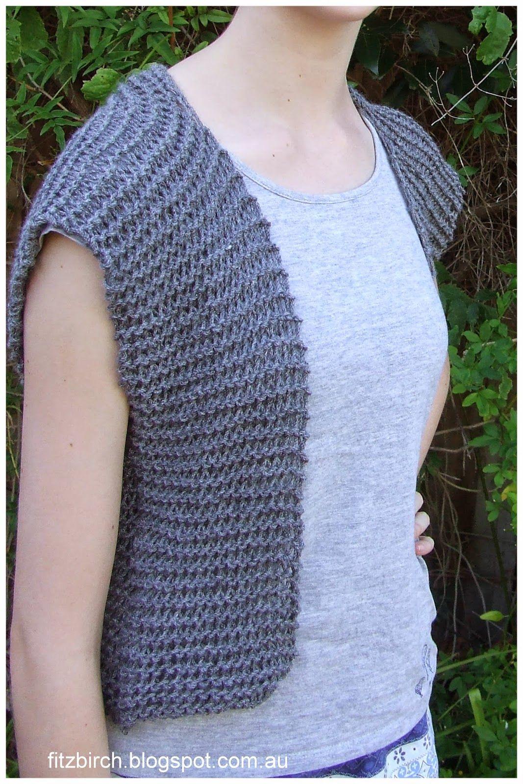 2c66168f2df78c FitzBirch Crafts  Garter Stitch Beginner Vest free pattern