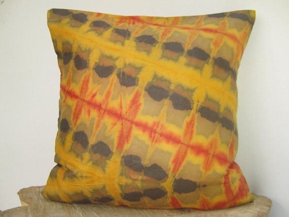 Shibori Pillow Hand tie dye pillow ShiboriTie dye by AddisonMade, $55.00