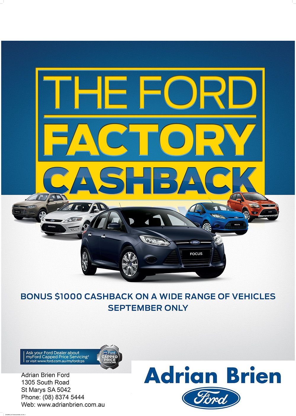 The Ford Factory Cashback Bonus 1 000 Cash Back On A Wide Range