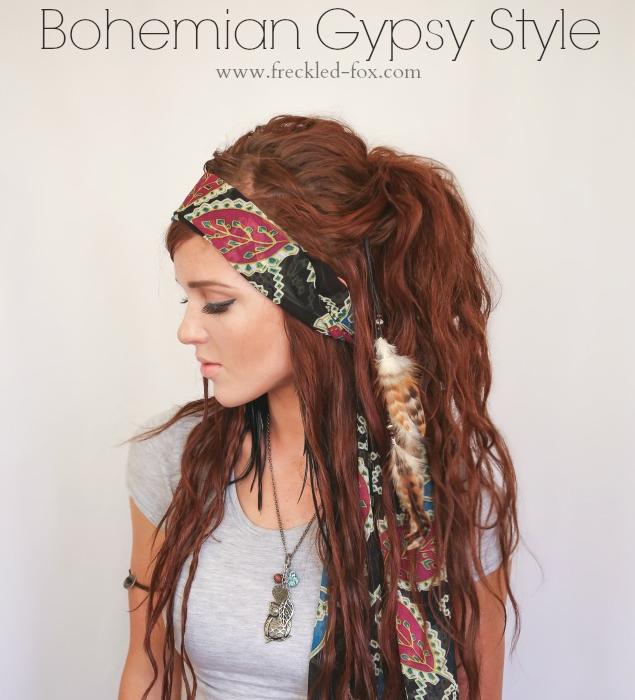 hippie haare hair tutorials long hair styles hair. Black Bedroom Furniture Sets. Home Design Ideas