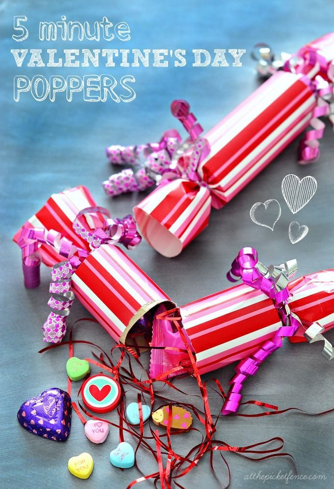 take five diy poppers for valentines day - Valentine Ideas For Classmates