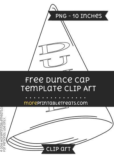 Free Dunce Cap Template Clipart Clip Art Templates Digital Media Projects