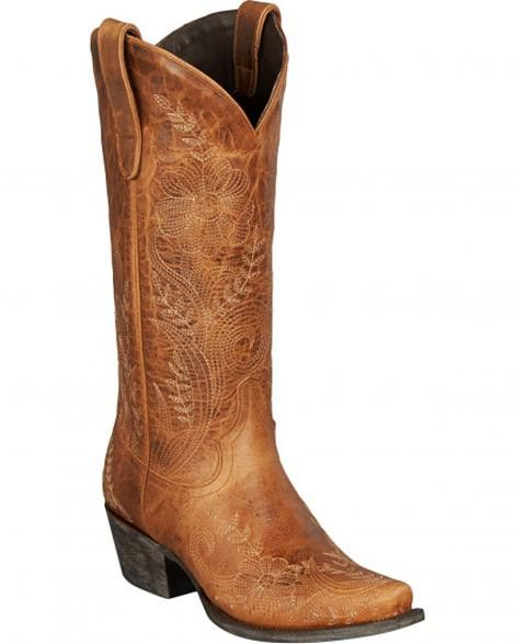 Brown Ashlee Lace- Lane Cowgirl Boots