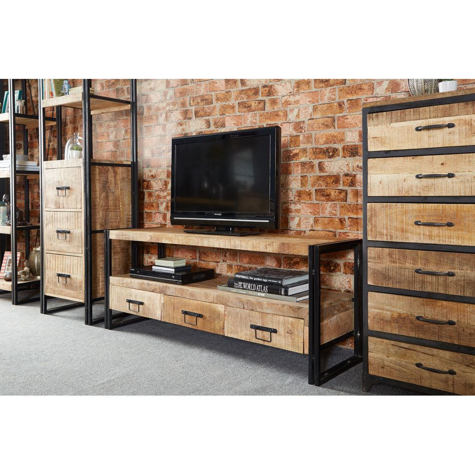 prestington sidney industrial tv stand …  pinteres… - explore industrial tv stand and more