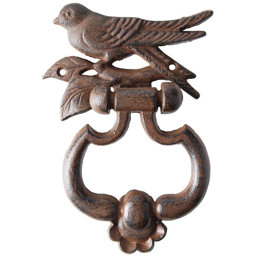 Cast Iron Bird Door Knocker By Dibor | Notonthehighstreet.com