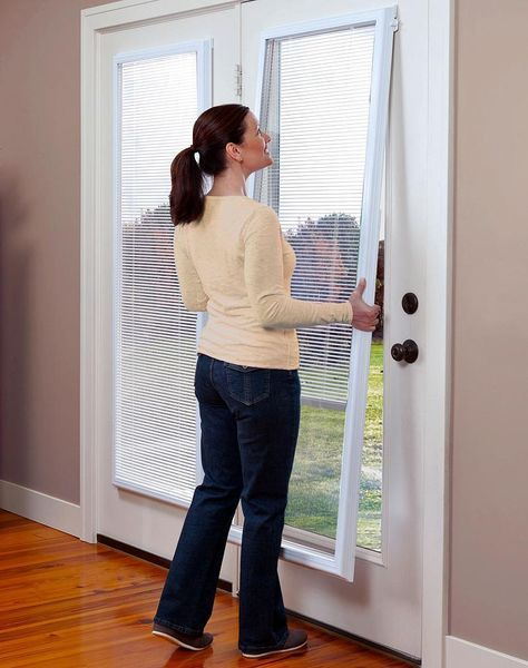 Odl Add On Blinds For Doors Http Www Homedepot Com P Odl 22 In W X 64 In H Add On En Patio Door Blinds French Door Window Treatments Blinds For French Doors