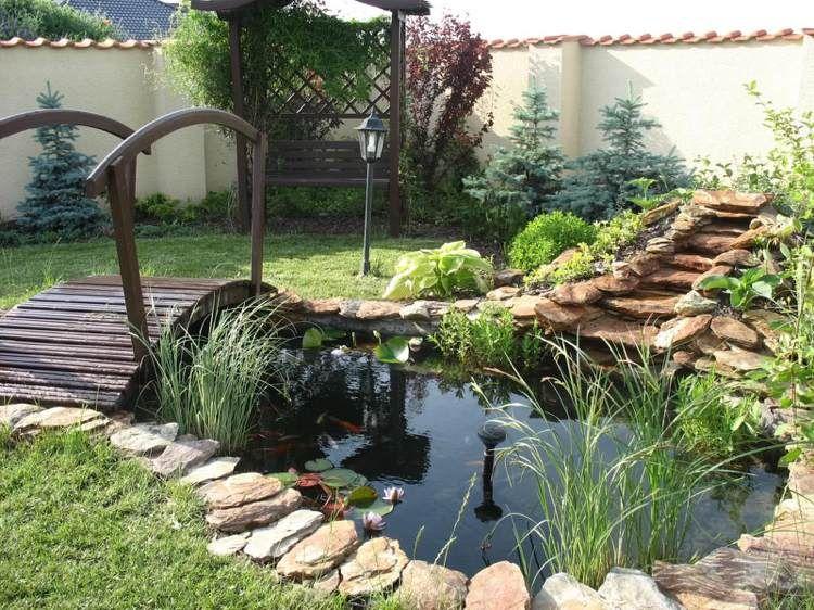 Faire un bassin de jardin 30 id es fantastiques for Bassin poisson sans pompe
