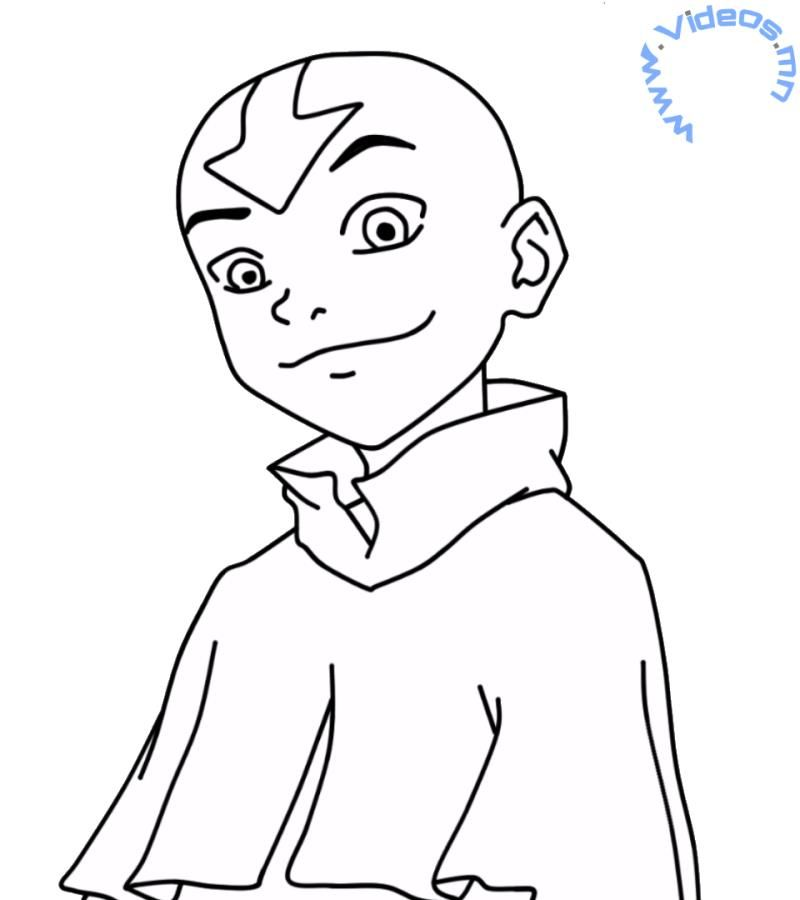 How to draw Aang from Avatar the Last Airbender | LineArt: Avatar ...