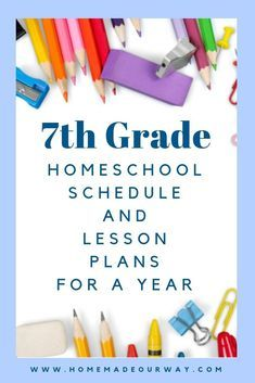 Photo of 7th Grade Homeschool Schedule and Lesson Plan