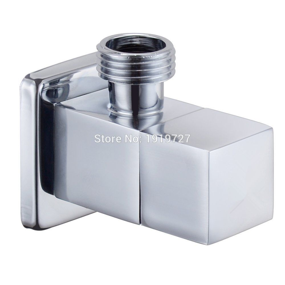 Modern Solid Brass Diverter 1 2 X 1 2 Male Angle Stop Ceramic Mixing Quarter Turn Angle Valve Bathroom Faucet Accessories Bathroom Faucets Bathroom Fixtures