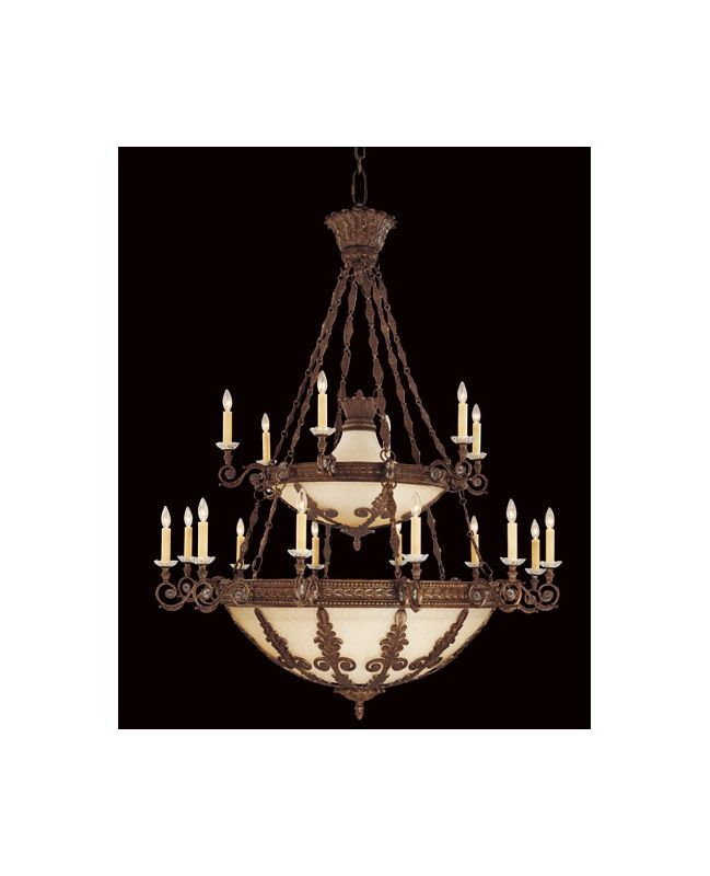 """Savoy House 1-3416-18 Corsica 18 Light 55"""" Wide 2 Tier Chandelier New Tortoise Shell Indoor Lighting Chandeliers Candle-style"""