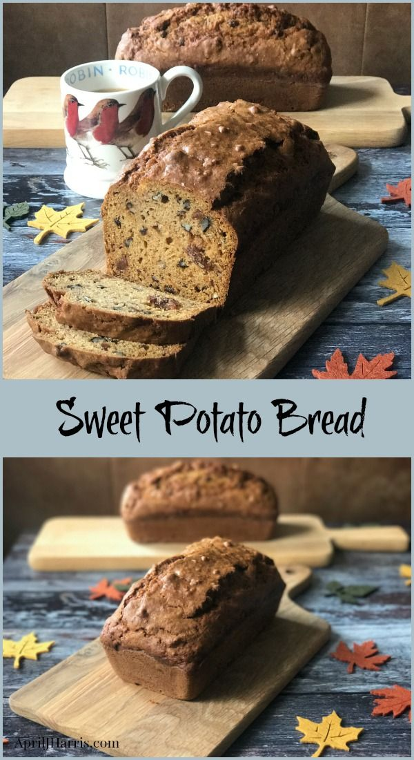 Wholesome sweet potato, plump raisins and crunchy pecans combine in this warmly spiced, deliciously addictive Sweet Potato Bread / Loaf Cake recipe.