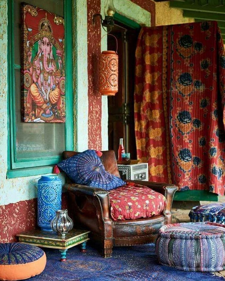 55 Bohemian Living Room Decor Ideas: Layers Of Colour, Textiles And Pattern
