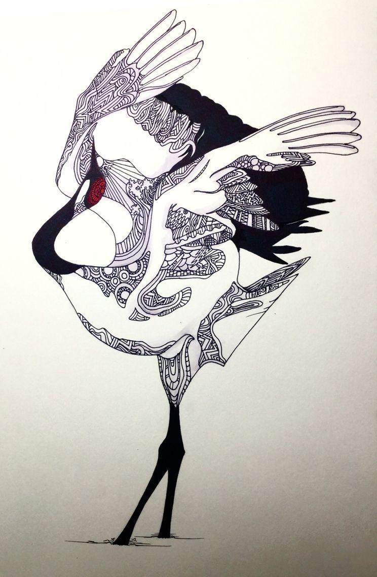 두루미 Red Crowned Crane Chinese Culturde In 2019 Crane Tattoo