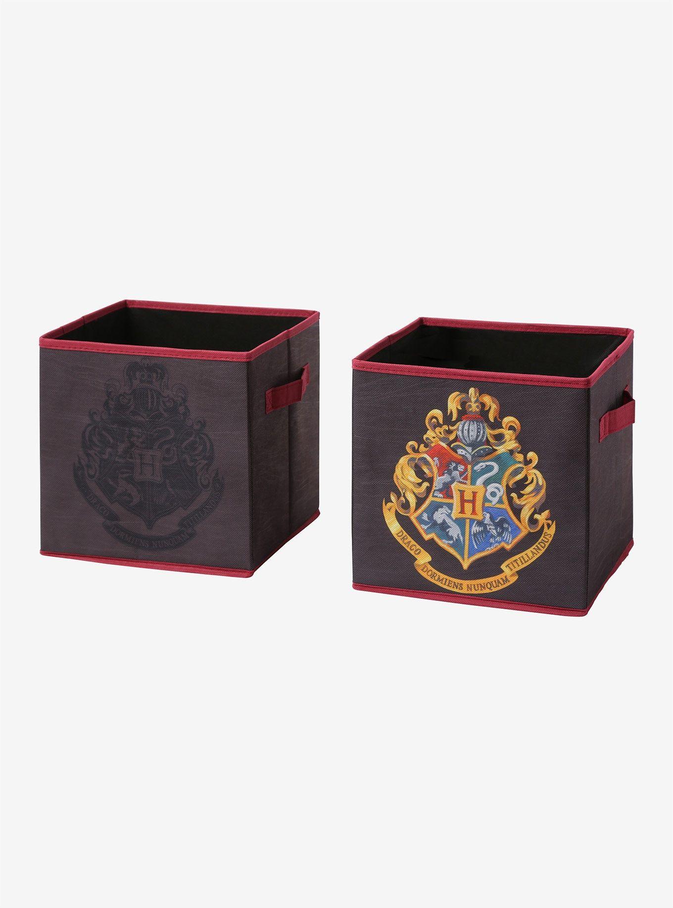 Harry Potter Hogwarts Crest Storage Bin 2 Pack Hogwarts Crest Harry Potter Hogwarts Potter
