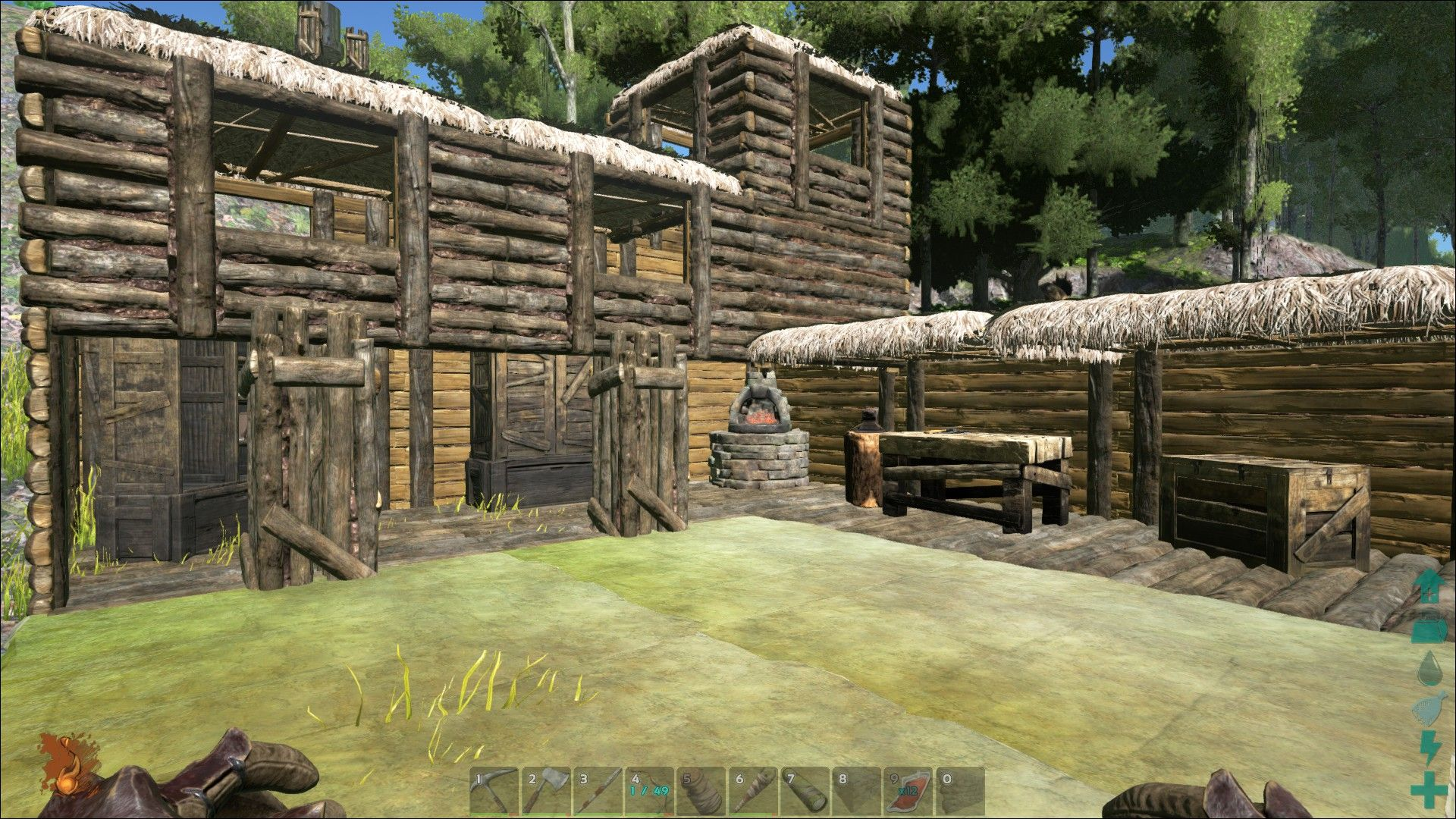 Gives Me An Idea For Building With A Courtyard Ark Survival Evolved Game Ark Survival Evolved Ark Survival Evolved Bases