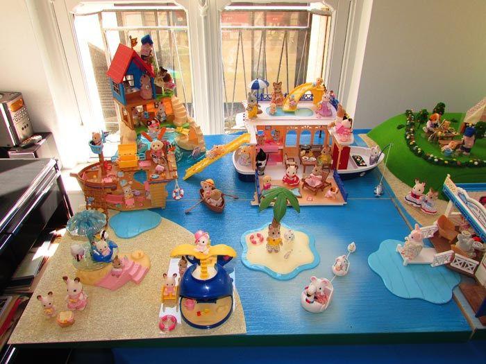 Le thème Bord de mer  des #SylvanianFamilies par #papapanique. #Jouet #enfant #parents