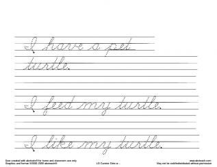 Make Your Own Cursive Worksheets Free Handwriting