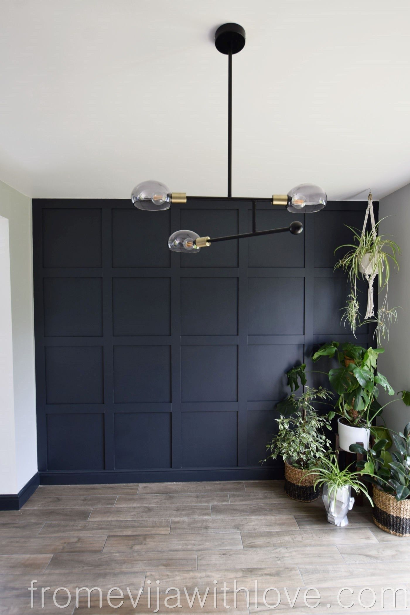 Statement Panel Wall Farrow and Ball Railings - HOW TO MAKE A STATEMENT PANEL WALL USING ADHESIVE