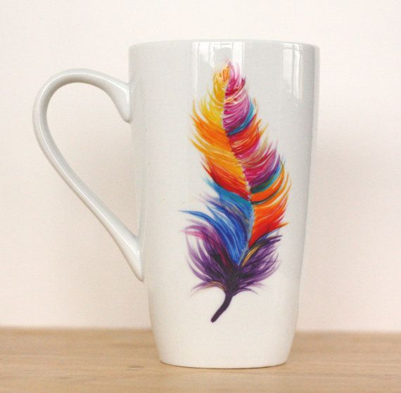 Hey, I found this really awesome Etsy listing at https://www.etsy.com/listing/260390491/feather-mug-feather-coffee-mug