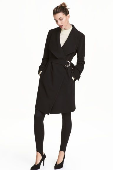 Spolverino revers drappeggiati   H&M