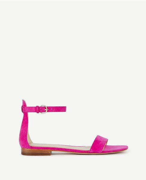 Primary Image of Brinley Suede Flat Sandals